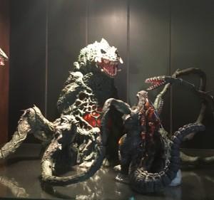 S. H. MonsterArts Biollante takes on Burning Godzilla.