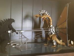 S.H. MonsterArts Godzilla and Mecha King Ghidorah