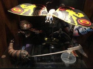 Mothra & Mothra Larva with silk.